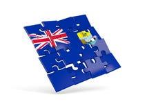 Puzzle flag of saint helena isolated on white Stock Images