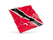 Puzzle flag of trinidad and tobago isolated on white. 3D illustration Stock Image
