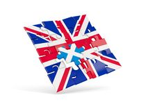 Puzzle flag of United Kingdom and flag of Scotland Stock Images
