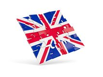 Puzzle flag of united kingdom isolated on white Royalty Free Stock Image