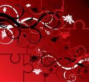 Puzzle floral background, elements for design, vector. Illustration vector illustration
