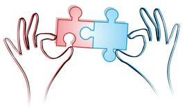 Puzzle fonctionnant Image libre de droits
