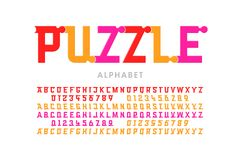 Puzzle font Vector Illustration
