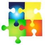 Puzzle. Four puzzle pieces set illustration Royalty Free Stock Photos