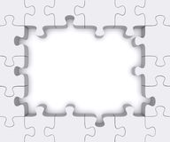 Puzzle frame. Stock Photos