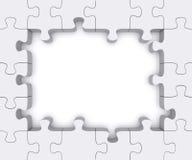 Puzzle frame. Stock Photos