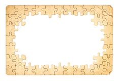 Puzzle Frame. Grungy Looking Puzzle Frame Royalty Free Stock Images