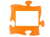 Puzzle Frame. A puzzle with a white frame for anything Royalty Free Stock Images