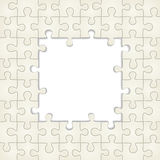 Puzzle frame background. Vector illustration. Eps 8 Royalty Free Stock Photos