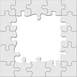 Puzzle frame. Isolated over white background Royalty Free Stock Photography