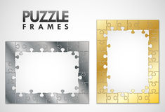 Puzzle frames Stock Photo