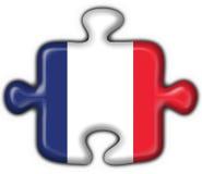Puzzle francese della bandierina del tasto Fotografia Stock Libera da Diritti
