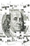 Puzzle Franklin Fotografia Stock Libera da Diritti