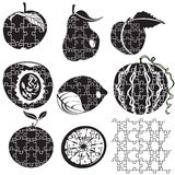 Puzzle fruits Royalty Free Stock Images
