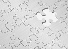 Puzzle game. One step away to success Royalty Free Stock Images