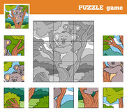 Puzzle Game for children with animals (koala) Stock Photography