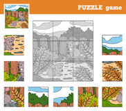 Puzzle Game for children with animals (mice) Royalty Free Stock Image
