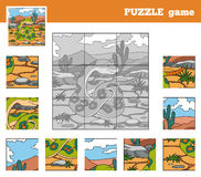 Puzzle Game for children with animals (snake) Stock Photography