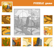 Puzzle Game for children with animals (vulture) Royalty Free Stock Image