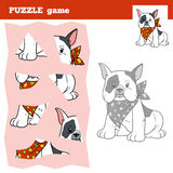 Puzzle Game for children, bulldog Royalty Free Stock Photos