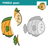 Puzzle Game for children, fish Royalty Free Stock Photography