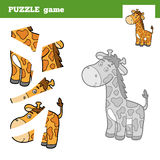 Puzzle Game for children, giraffe Royalty Free Stock Image