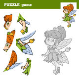 Puzzle game for children, little fairy Stock Photos
