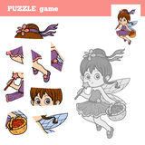 Puzzle game for children, little fairy Royalty Free Stock Images