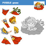 Puzzle game for children, little fairy Stock Photo