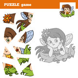 Puzzle game for children, little fairy Royalty Free Stock Photos