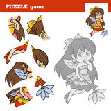 Puzzle game for children, little fairy Stock Images