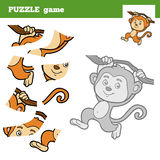 Puzzle Game for children, monkey Stock Photo