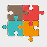 Puzzle game design. Stock Photography
