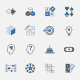 Puzzle and game icon set. vector. illustration Royalty Free Stock Photography