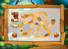 Puzzle game with jungle theme Stock Photos