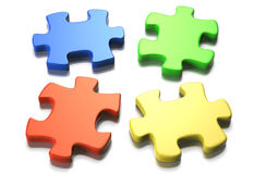 Puzzle Gathering Stock Image
