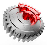 Puzzle gear Stock Image