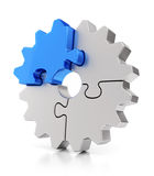 Puzzle gears. Teamwork concept. Stock Photos