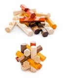 Puzzle geometrico di legno Fotografia Stock Libera da Diritti