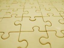 Puzzle giallo Immagini Stock