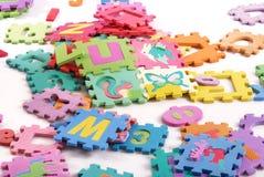 Puzzle. Giocattolo dei bambini Fotografie Stock Libere da Diritti