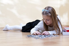Puzzle girl Stock Photo