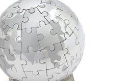 Puzzle globe Royalty Free Stock Image