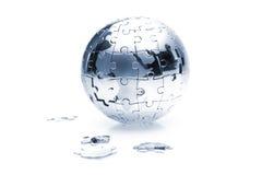 Puzzle globe Royalty Free Stock Images