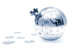 Puzzle globe Stock Images