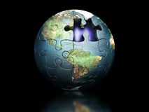 Puzzle globe Stock Photos