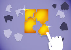 Puzzle Gold Stock Photography