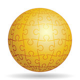 Puzzle golden ball Stock Photos