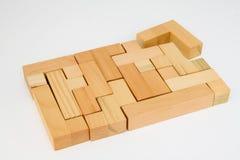 puzzle gotowego drewna Fotografia Royalty Free