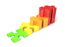 Puzzle graph Royalty Free Stock Photos